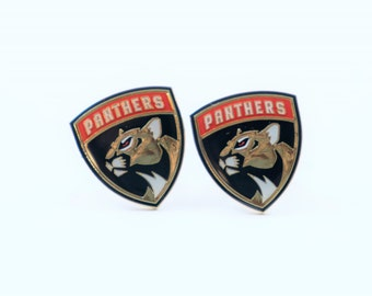 Florida Panthers Cuff Links -- FREE SHIPPING with USPS First Class Domestic Mail
