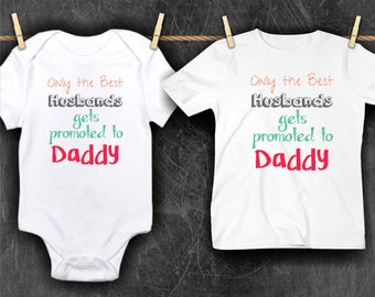 Pregnancy Reveal//Husband//Daddy//Baby One-Piece//Pregnancy announcement//onepiece//BodySuit//pregnancy announcement shirt,