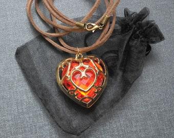 Legend of Zelda necklace – Skyward Sword heart container – Link cosplay jewelry / jewellery