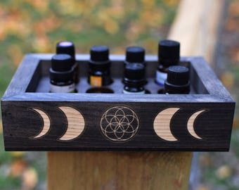 Moon Phases Essential Oil Box - Old Growth Georgia Pine