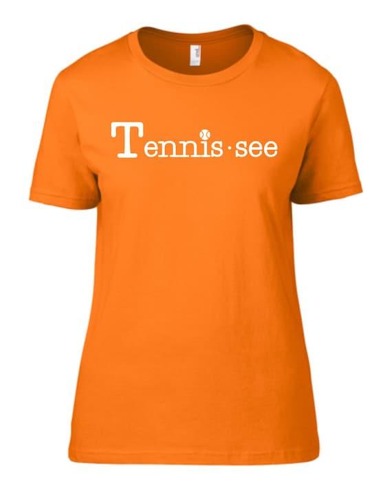 Tennis.see® Tennis Tennessee Tennis.see Tshirt Tee Shirt Womens Orange