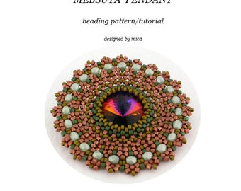 Mebsuta Pendant - Beading Pattern/Tutorial - PDF file for personal use only