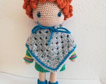 Gehaakte pop - crochet doll - amigurumi doll- cotton doll- stuffed doll- handmade doll