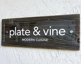 Custom Rustic Sign with Reclaimed Wood. Custom Quote Sign. Custom Rustic Sign. Business Sign. Personalized Sign. Office Decor . 20x7