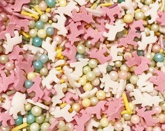 Rainbow Unicorn sprinkle mix. Cake decorating, cupcake sprinkle mix