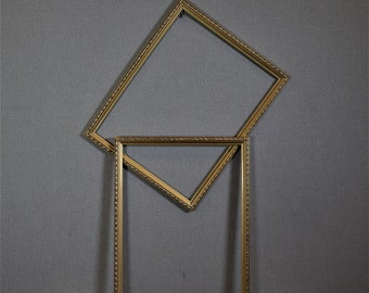 11x14 Frame Ornate Narrow Gold Wood with Optional Glass and Matting Complete Kit