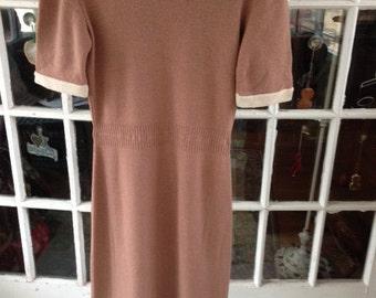Sale:  50's wool knit dress, new old stock