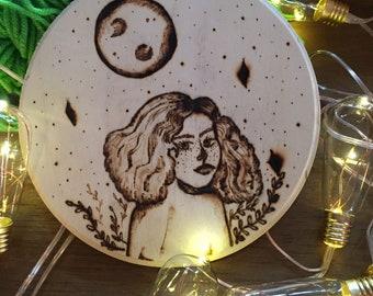 Space Girl Woodburning