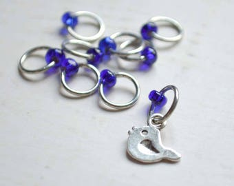 SALE!! Knitting Stitch Markers -  Little Bird - Snag Free - Made to order in your choice of 4 sizes