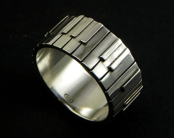 Pianist - Piano - keyboard player Ring - Sterling Silver 925 - Made in Italy