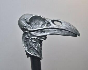 Raven Skull Cane