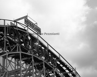 Brooklyn Cyclone Astroland Coney Island Beach Photography Black & White Photo Images New York NYC Photograph