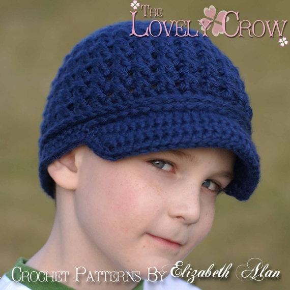 Newsboy Hat Crochet Pattern LITTLE SPORT NEWSBOY hat digital