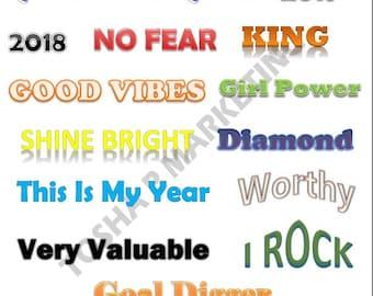 Vision Board Word Art Printable