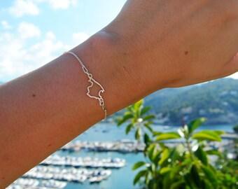 Mallorca bracelet in 925 sterling silver
