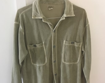 Mododoc Vintage Terry Cloth Large Button Down