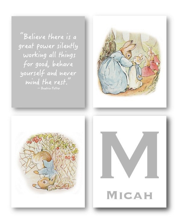 Peter Rabbit Nursery Decor Baby Nursery Art Prints Peter