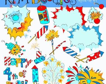 Rafa's Fourth of July digital clip art COMBO