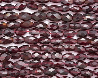 14 IN 4x7 mm Garnet Oval Faceted Gemstone Beads (GARAVF0407)