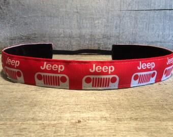 Red Jeep Nonslip Headband, Noslip Headband, Workout Headband, Sports Headband, Running Headband, Athletic Headband