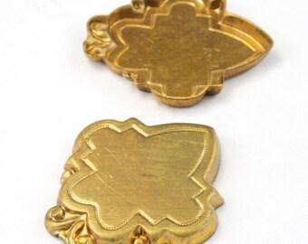 25mm Brass Decorative Plaque (4 Pcs) #3112