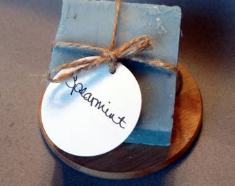 Spearmint - Handmade Soap - Natural Soap - Essential Oil Soap - Cold Process Soap