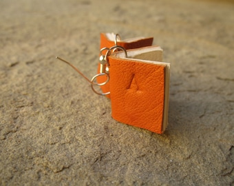 book earrings customized leather book earrings coloured