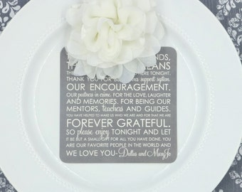 Wedding Menu and Thank You    Menu    Thank You   Wedding Menu - Style 33 - TEAGAN Collection