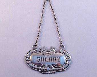 Fancy Sherry Sterling Liquor Label
