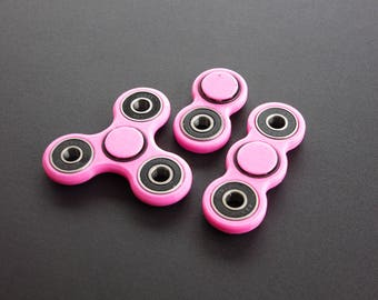 Classic Fidget Toy Spinner Set in 3, 2 and 1-Prong - Anti-Stress, Anti-Anxiety, Relaxing - Made in USA Non-Toxic Plastic (PLA)