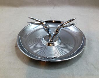 Vintage Toucan Pincherette Ashtray Chrome with 2 Toucans (#2)    01841