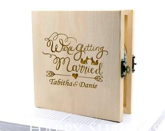 Custom CD Box, Personalised Wooden DVD Case - Wedding CD Music Video Wedding Photographs (CD05)