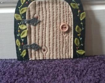 Hand made felt Fairy / tooth fairy door - ideal for encouraging imaginative play