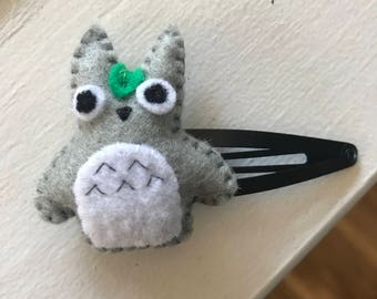 Cute Felt Totoro Anime Hair clip or keychain