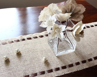 Birthday Burlap Table Runner - Elegant Holiday Table Accessory - Fresh Decorating Idea for Your Home