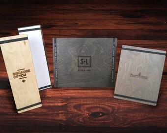 Bandview™ Menu Holders with Logo. 25-Pack