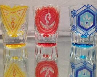 pokemon go team shotglasses