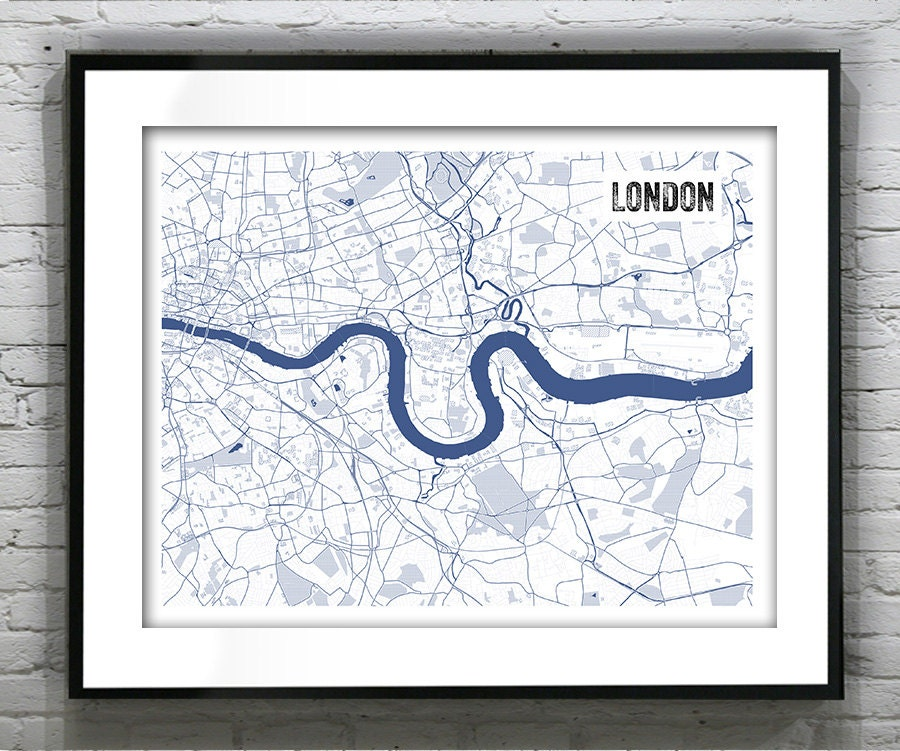 London england uk blueprint map poster art print several sizes london england uk blueprint map poster art print several sizes available malvernweather Choice Image