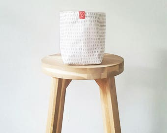 Fabric Bucket - Painted Spots Grey (multiple sizes avail.)