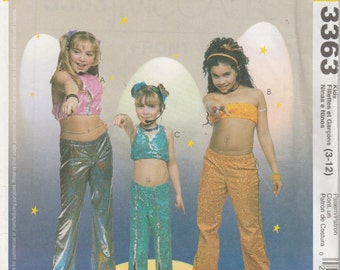 McCall's Costumes 3363 Size 3-12 Children's and Girls' Diva Costumes Sewing Pattern 2001 Uncut