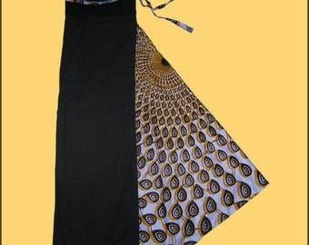 Harem pants black, orange and white