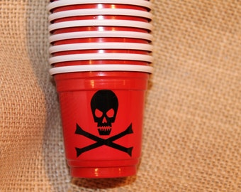 10 Gasparilla Pirate Solo Cup Shot Cups - Gasparilla 2016 - Pirate Wasted - Surrender the booty - Ship Wrecked
