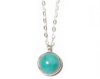 Stone of Compassion Necklace | 10mm Turquoise Necklace | Gold or Sterling Silver Turquoise Stone Necklace
