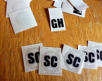 Vinyl spinner decal, fidget decal, monogram decal, set of 5 decals, custom monogram, spinner monogram decal, vinyl decal, personalize decals