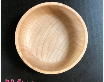 Small Sized Figured Maple Wood Bowl - #30