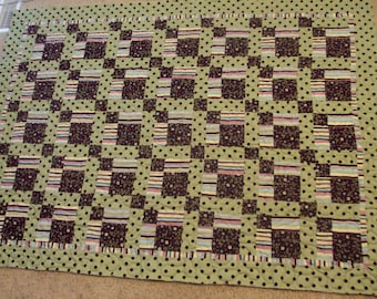 Abstract Stripes and Dots Quilt