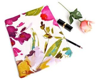Makeup Travel Bag - Floral - Travel Bag - Linen