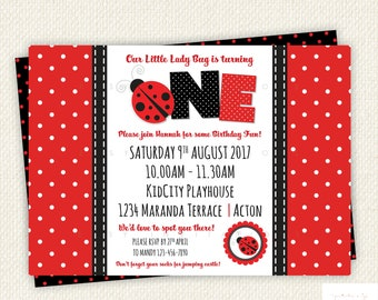 Ladybug Invitation, Ladybug Party, Ladybug Birthday Invitation, lady bug birthday, lady bug invitations, ladybird birthday, lady bug party