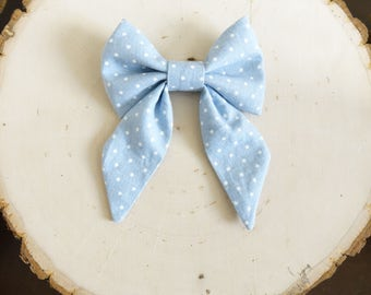 "Chambray Sailor ""Sadie"" Bow"