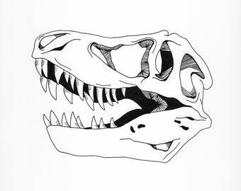 Dinosaur Skull Print